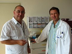 Onkolog Jiří Fínek (vlevo) a urolog Milan Hora
