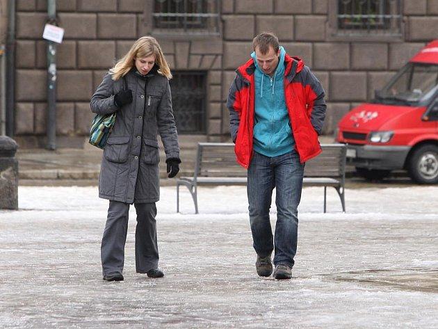 Led na náměstí Republiky