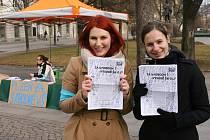 Studenti ZČU demonstrují za svobodné vysoké školy