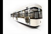 Studentský návrh tramvaje.