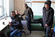 Bezdomovci v Domově sv. Františka v Plzni