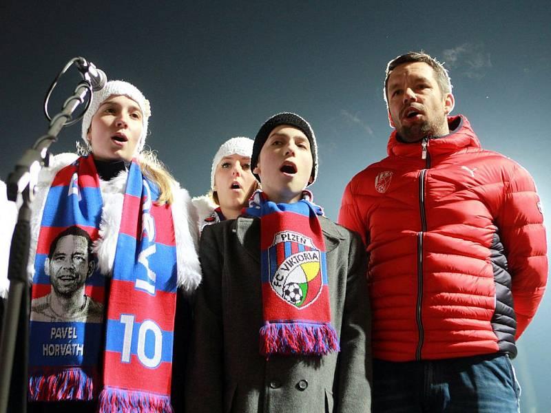 Na setkání s fanoušky přišel i asistent trenéra Pavel Horváth