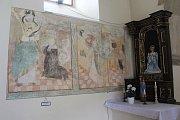 Vzácná gotická malba zachycuje výjevy ze života sv. Ambrože.