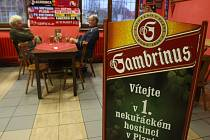 Nekuřácká hospoda Na Potravinách v Radčické ulici v Plzni. Téměř čtyři roky se tady nekouří