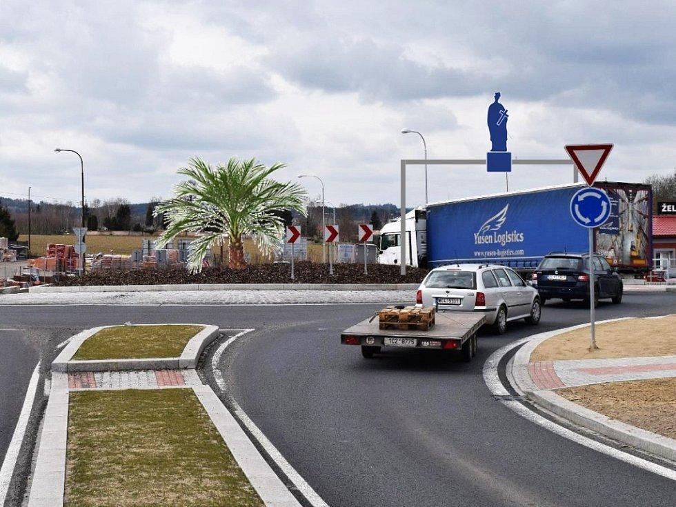 Budoucí podoba nepomucké křižovatky podle sochaře Adama Kovalčíka