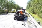 U křižovatky na severoplzeňské Štipoklasy na silnici mezi Plzní a Karlovými Vary došlo ve čtvrtek odpoledne kvážné dopravní nehodě.