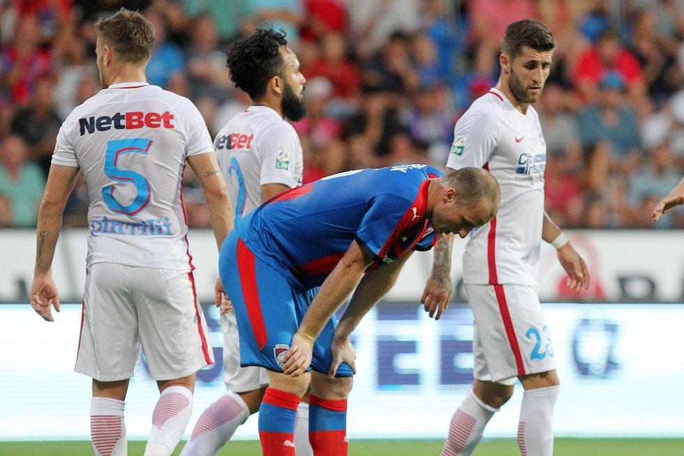 Utkání třetího předkola Ligy mistrů mezi Viktorií Plzeň a FC Sport Bukurešť skončilo 1:4.