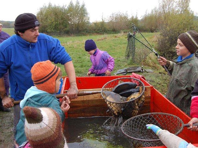 Výlov rybníka bývá v obci Kbel tradičně významnou událostí. Na letošním zátahu se sešly desítky místních i přespolních diváků