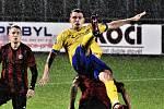 2. kolo ČFL (skupina A): FC Písek vs. Jiskra Domažlice (červení).