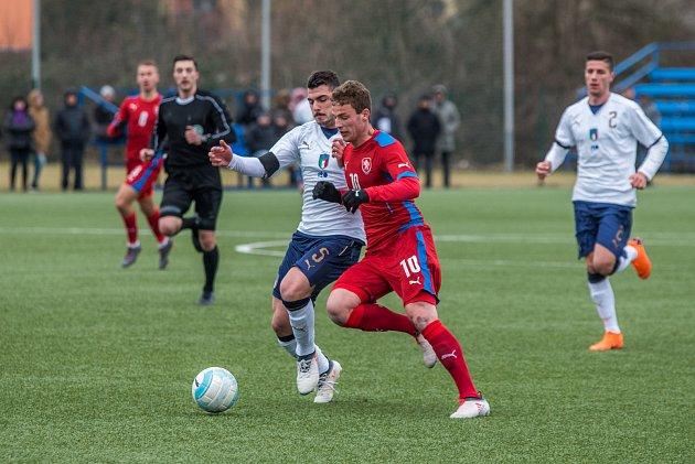 Zápas U20 mezi Českou republikou a Itálií.