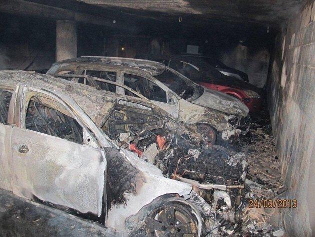 Požár podzemní garáže
