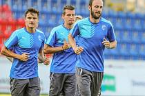 Fotbalisté Viktorie Plzeň si v úterý večer naposledy zatrénovali před odvetou s Maccabi Tel Aviv.