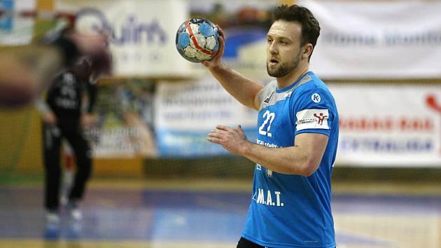 Házenkář Talentu Plzeň Michal Tonar nastřílel Lovosicím osm gólů a byl tak nejlepším střelcem západočeského týmu
