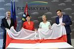 Na krajském úřadě vlaje vlajka Běloruska