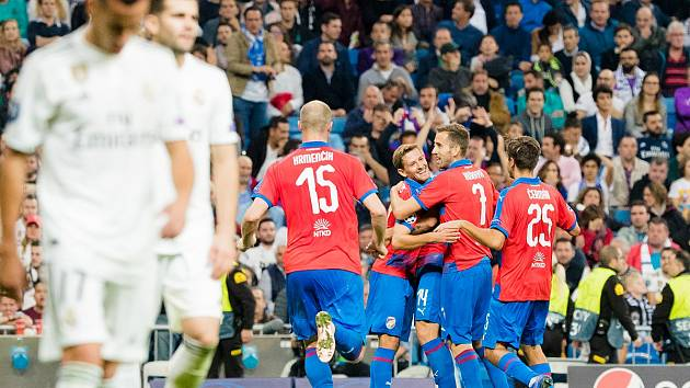 Utkání mezi Viktorií Plzeň a Realem Madrid. Ilustrační snímek
