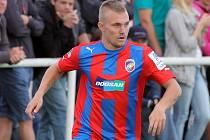 Jakub Hora přispěl k výhře Viktorie na Domažlicemi dvěma góly.
