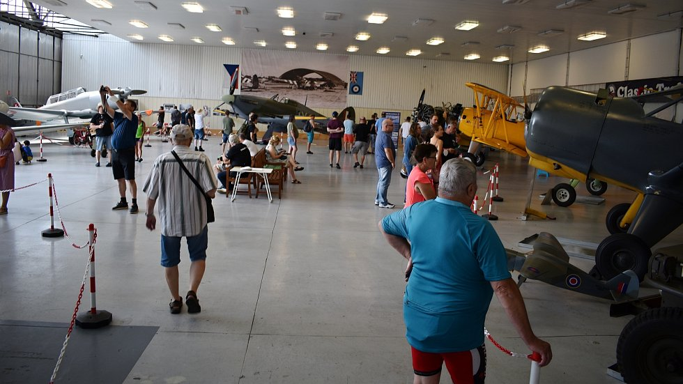 Den otevřených dveří v Hangáru 3 na letišti v Líních, 24. 7. 2021