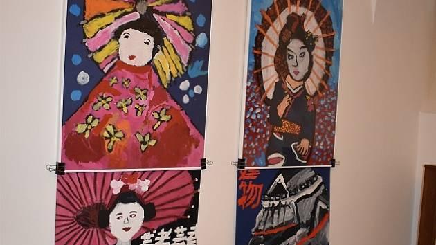 Z výstavy Japonsko očima dětí na plzeňské radnici.
