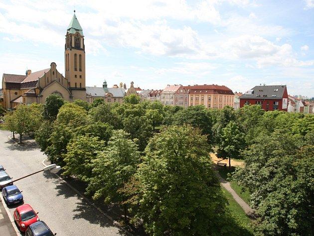 Jiráskovo náměstí je parkové náměstí, na kterém rostou až šestiřadé aleje jírovců. Dnes jsou tato stromořadí více rozčleněná mezi komunikace a domy. Přesto patří k nejzelenějším náměstím v Plzni