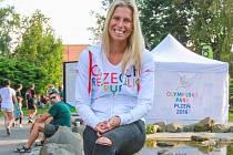 Andrea Hlaváčková v Olympijském parku v Plzni