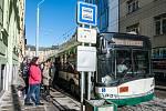 Autobusové zastávky v Goethově ulici.