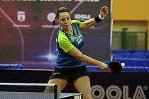 Stolní tenistka Dana Čechová na domácím šampionátu v Plzni, který se konal na přelomu února a března.