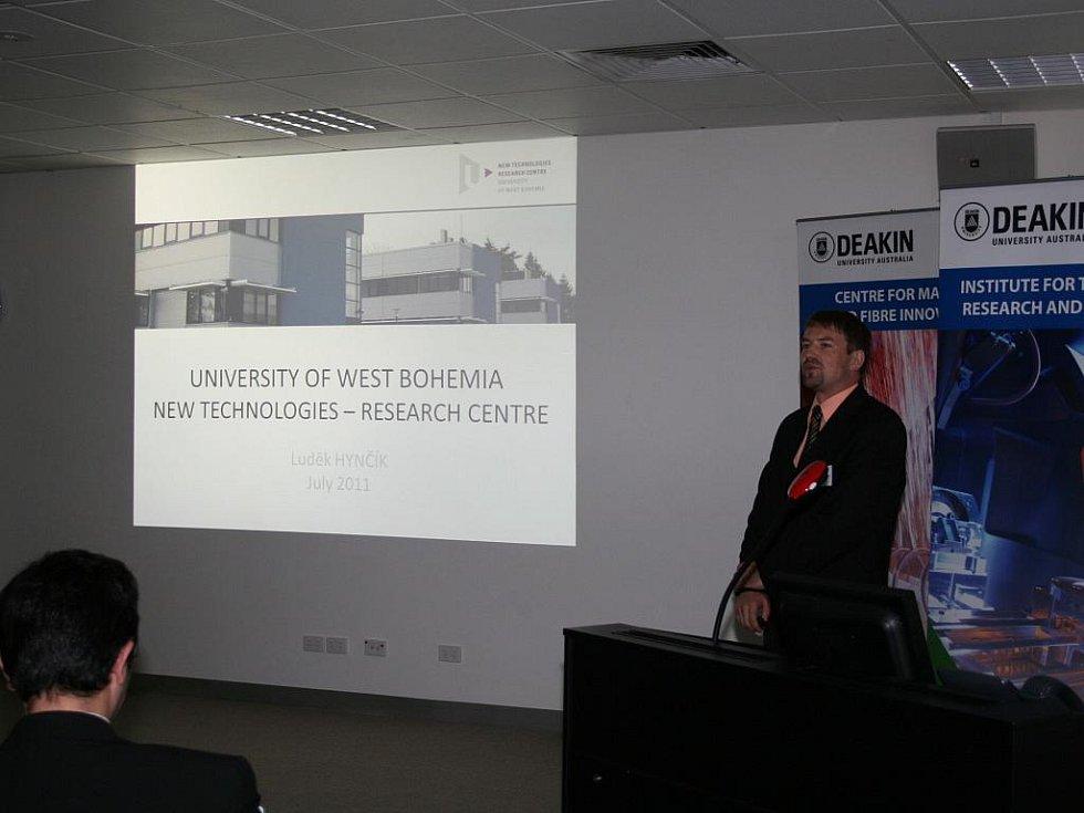 Luděk Hynčík, který v Austrálii zastupoval ZČU, měl úspěch. Nabídl totiž možnosti společného výzkumu.