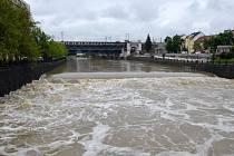 Povodeň v Plzni, pohled z Wilsonova mostu