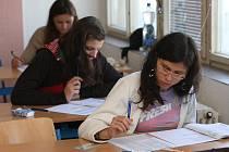Zkouška státních maturit na Gymnáziu Luďka Pika
