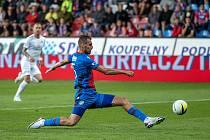 Plzeňský útočník Tomáš Chorý při domácím zápase se Slováckem.