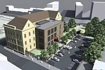 Školní budova na Habrmannově náměstí se má změnit, v zadní části přibude přístavba a také parkoviště.