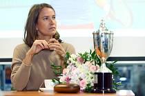 Tenistka Barbora Strýcová besedovala v Plzni.