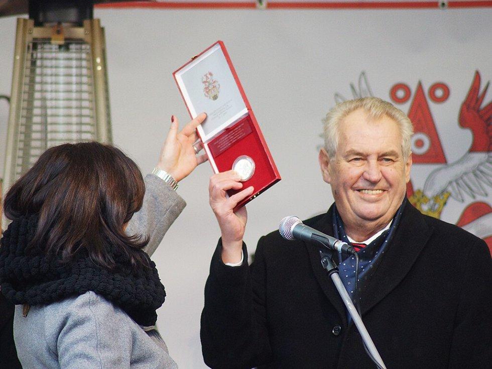 Prezident Miloš Zeman v Plané na Tachovsku