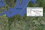 Trasa, kterou musel estonský kormorán urazit, měří 1073 kilometrů.