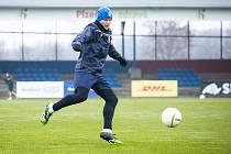 Záložník Pavel Šulc na nedělním tréninku Viktorie Plzeň.