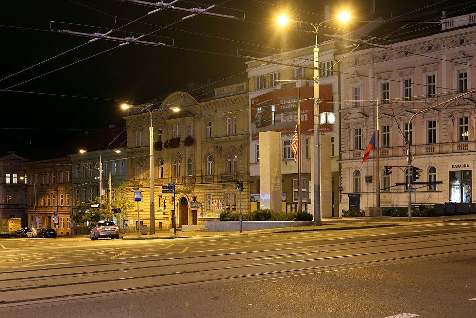 Plzeň, Klatovská třída, U Práce, památník Díky Ameriko