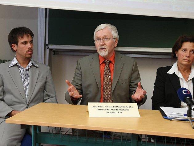 Tisková konference vedení Západočeské univerzity