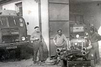 Historická fotografie SDH Chlumčany