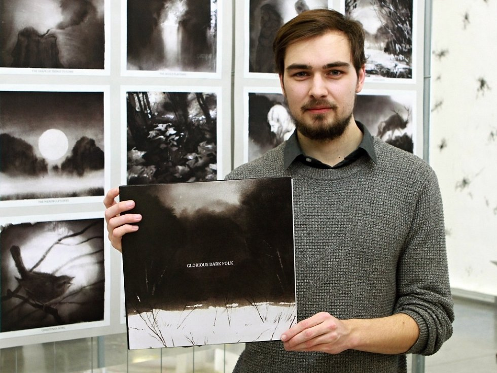 Filip Štorch navrhl originální obal na vinylovou desku svých oblíbených kapel.