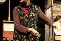 Hrou Arnošta Goldflama Krvavé koleno (na snímku z představení Blanka Josephová–Luňáková) asvou novou inscenací Bártndžus se zúčastní Skupovy Plzně hostitelské Divadlo Alfa