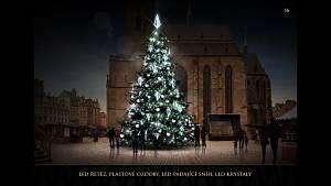 Vánoční stromy v Plzni v minulých letech