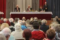 Prezident Miloš Zeman v kulturním domě v Nýřanech