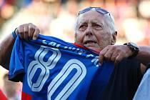 František Čaloun před třemi roky, kdy slavil osmdesáté narozeniny.