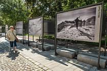 Výstava ve Smetanových sadech.