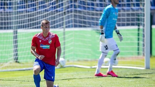 KLEČÍCÍ STŘELEC. Viktorián Lukáš Matějka se v přípravném zápas s Českými Budějovicemi uvedl vstřeleným gólem.