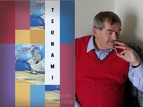 Nahlédnutím do právě vydaného románu Tsunami (obálka knihy vlevo) se zdá, že přes závažná témata je vyprávěn velice lehce, nepostrádá jemný humor a bude nejspíše dobře čtivý. Na snímku vpravo je autor Ivan Vičar
