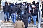 Fanoušci Neapole v Plzni