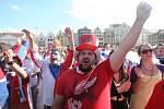 Hokejoví fanoušci na náměstí Republiky
