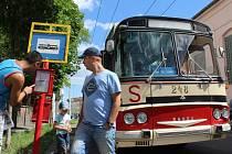 Oslava dvou výročí trolejbusů a jízda historickým trolejbusem Škoda T 11