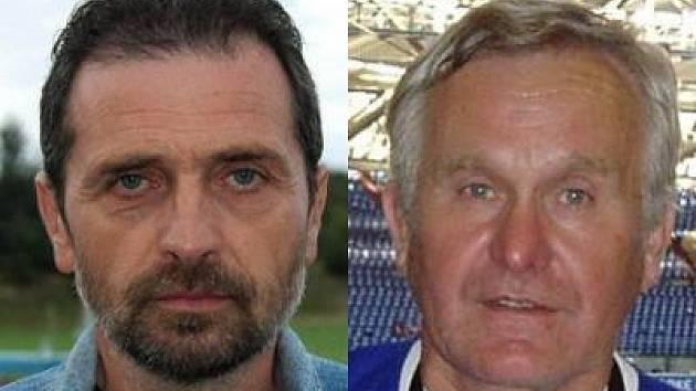 Odstupující trenér Josef Pátek (vlevo) a sekretář klubu, který je pověřený vedením, Zdeněk Štolka